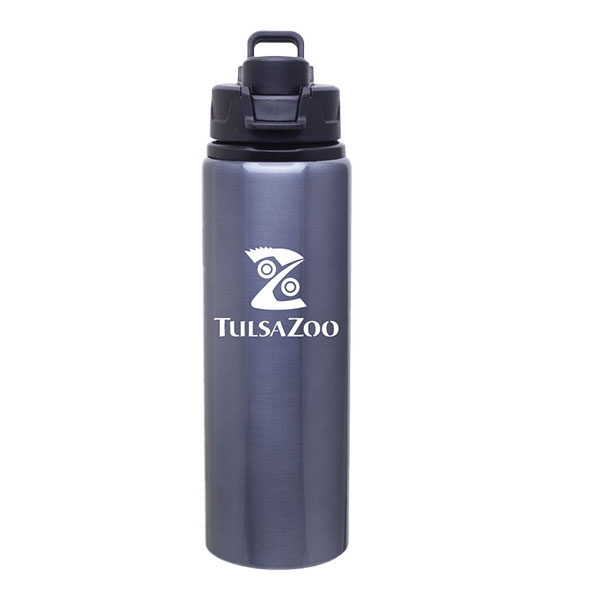 WATER BOTTLE ALUMINUM GREY