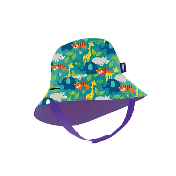 INFANT BUCKET STACK ZOO - ALLOVER PRINT