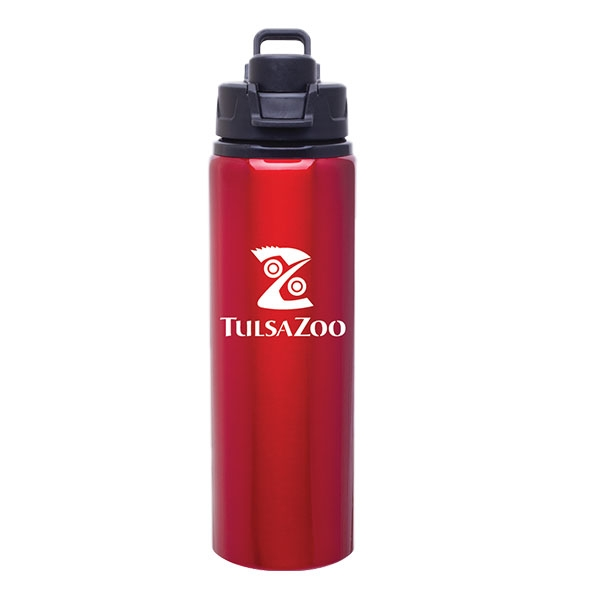 WATER BOTTLE ALUMINUM RED