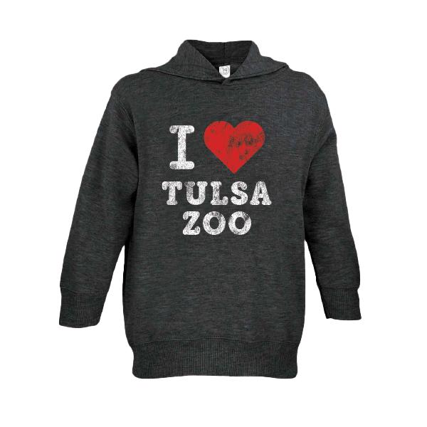 TODDLER HOODIE I LOVE TULSA ZOO