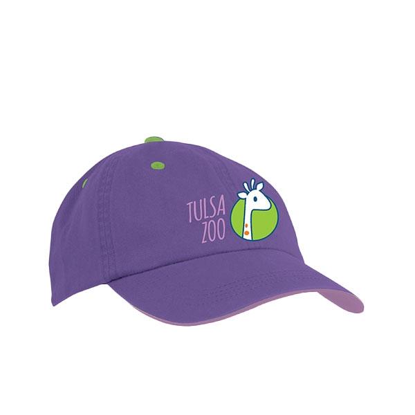 TODDLER CAP STACK ZOO PURPLE