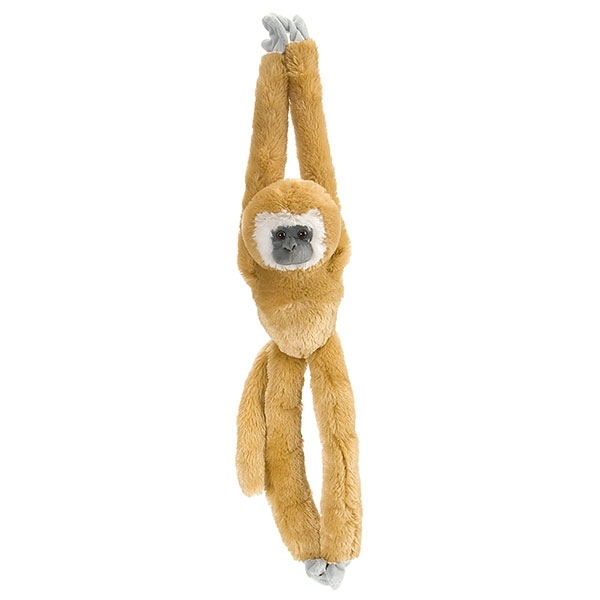 HANGING WHITE HANDED GIBBON PLUSH
