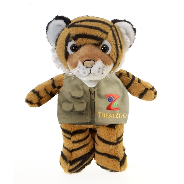 TIGER PLUSH WITH TULSA ZOO VEST