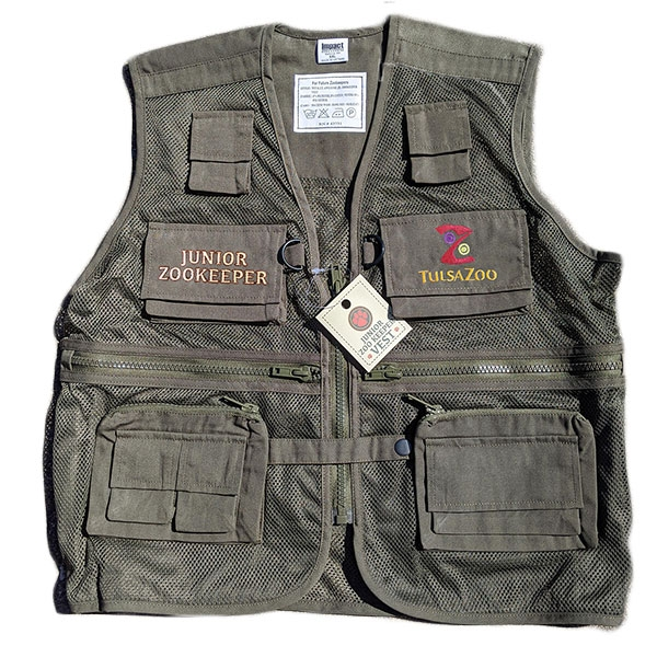 YOUTH VEST JR ZOOKEEPER OLIVE