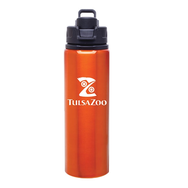 WATER BOTTLE ALUMINUM ORANGE