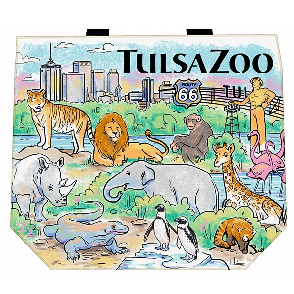 TULSA ZOO WATERCOLOR TOTE